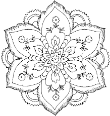 peaceful design flower coloring pages for kids happy flowers in a