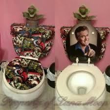 themed toilet seats faux fur toilet cover hot pink 70 s toilet seat