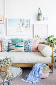 rattan daybed couch in the living room best pastel ideas on