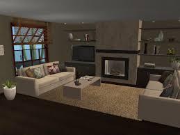 modern urban loft style living room virtual home décor designs