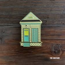 shotgun house shotgun house enamel pin u2013 dirty coast press