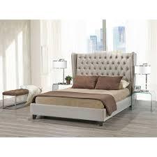 Beige Upholstered Bed Avalon Beige Upholstered Bed