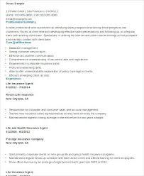 cover letter for insurance agent insurance agent sample resume insurance agent resume sample