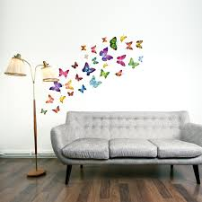walplus colourful butterflies wall stickers office home walplus colourful butterflies wall stickers office home decoration 28pcs 33cm x 60cm pvc removable self adhesive multi color amazon co uk kitchen