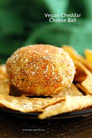 vegan cheese ball cheddar cheese ball vegan richa