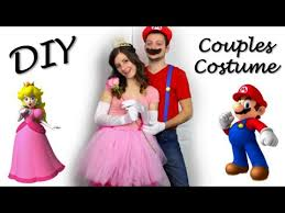 Mario Luigi Halloween Costumes Couples Princess Peach U0026 Mario Diy Halloween Couples Costume