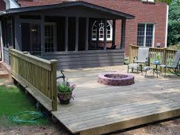 Fire Pits For Backyard by Backyard Deck Ideas With Fire Pit Backyard Fence Ideas