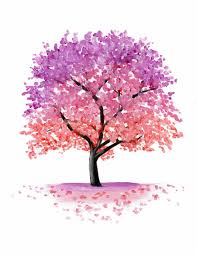 pink blossom tree painting print by emily luella