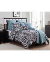 10 Pc Comforter Set Incredible Deal On Vcny 10 Piece Ashley Comforter Set Blue