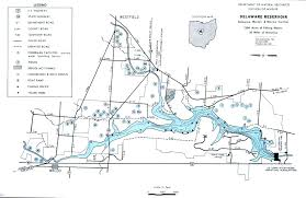 Map Ohio State by Delaware Reservoir Fishing Map Central Ohio