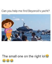 Yacht Meme - can you help me find beyonc礬 s yacht the small one on the right