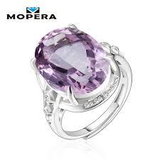 silver amethyst rings images Exaggeration big gemstone 10ct cut purple amethyst rings for women jpg
