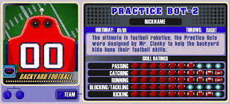 Backyard Football 2002 Cheats Backyard Sports Player Profile Bonus Unlockable Characters
