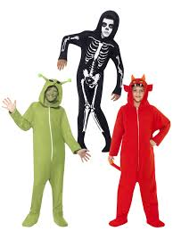 boys halloween hooded all in one fancy dress costume horror party