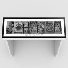 personalized alphabet iii black and white architectural family n