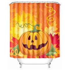 150x180cm 3d halloween ghost pumpkin polyester shower curtain