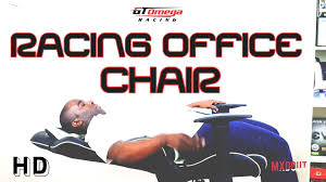 Office Chair Black Leather Gt Omega Pro Racing Office Chair Review Youtube