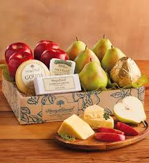 fruit and cheese gift baskets deluxe pears apples and cheese gift cheese gifts harry david