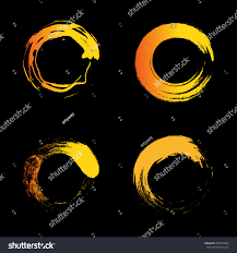 Warm Orange Color Vector Isolated Warm Orange Color Logo Stock Vector 400757092