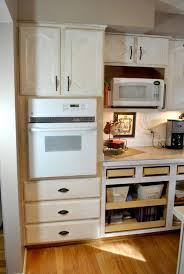 corner double oven cabinet entrancing kitchen wall oven cabinets
