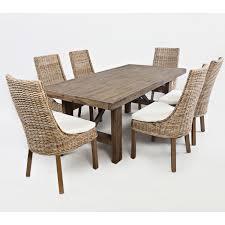 jofran 872 79 hampton road trestle dining table in distressed acacia