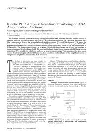 kinetic pcr analysis u2013 real time monitoring of dna amplification