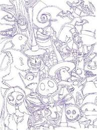 nightmare before christmas coloring page 400x500px printable to