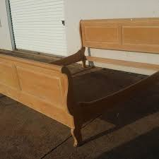 Ethan Allen Sleigh Bed Find More Ethan Allen King Light Wood Sleigh Bed Frame For Sale At