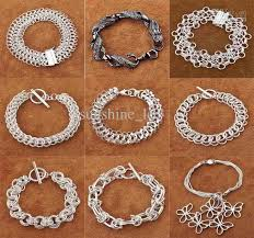 silver bracelet links images 2018 mixed styles 925 silver men 39 s bracelet links chain bracelet jpg