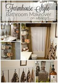 farmhouse style bathrooms farmhouse style bathroom makeover on a budget the other side of