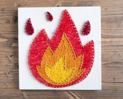 colorful interiors modern fire emoji wall string art decoration for colorful