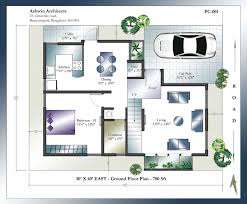 Duplex Townhouse Plans Plush Design Duplex House Plans For 20x40 Site East Facing 14 20 X
