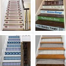 Staircase Update Ideas Dress Up Stair Risers With Vinyl Decals Staircases Basements