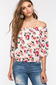 shoulder blouse women s blouses floral shoulder blouse a gaci