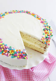 yellow birthday cake vanilla frosting