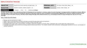 architect cover letter u0026 resume