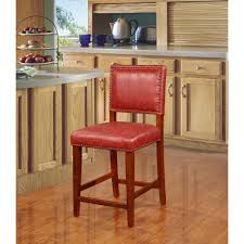 Home Decor Orange Linon Home Decor Brook 24 In Red Cushioned Bar Stool 0232red 01