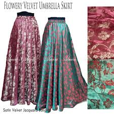 rok panjang muslim rok panjang muslim terbaru flowery velvet umbrella skirt griya