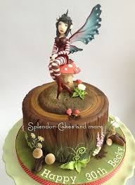 woodland fairy cake drawing fairy is modelled from gumpaste