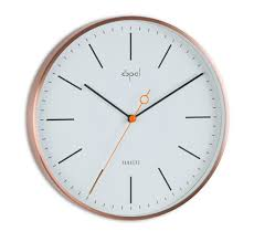 buy opal panache wall clock copper plated designer white online