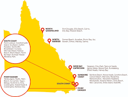 Map Of Queensland Clubs Surf Life Saving Queensland