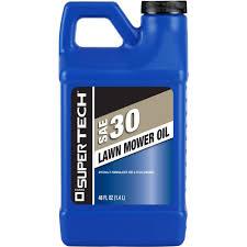 super tech 4 cycle sae 30 lawn mower oil 48 oz walmart com