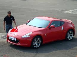 nissan 370z price in india report u0026 pics nissan 370z launch in mumbai display in various