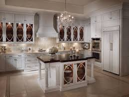 kitchen style grande kitchen vintage design tall white cabinet grande kitchen vintage design tall white cabinet chrome handles antique chandelier butcher block countertop ceramic tile floors