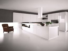 lacquered kitchen with peninsula yara composition 1 by cesar