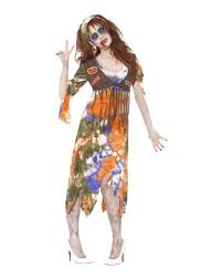 ladies womens hippie hippy fancy dress costume 60s 70s groovy