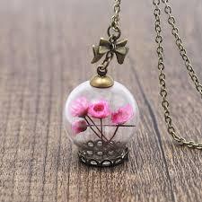 bottle necklace aliexpress images Romantic love glass wishing bottle pendant necklace women blue jpg