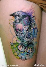 watercolor rose and bird tattoos in 2017 real photo pictures