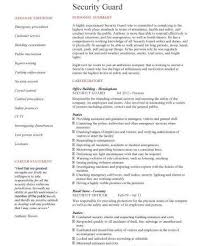 Sample Of Security Guard Resume by Security Guard Resume Objective Template Billybullock Us