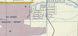 Maps Phoenix History Adventuring Living Close To The Airport In The 1950s
